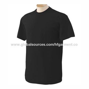 4b4b40f5 China Men's heavy plain black 100% cotton t-shirts,custom design,logo ...