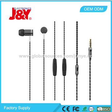 China Heavy Bass Sound Metal Stereo Earphone for iPhone