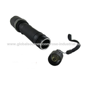 China 1200lm Strong Aluminum Alloy LED Flashlight/Torch, Zoomable, 4 Output Models