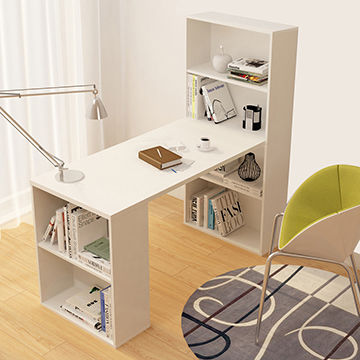 China Computer Desk Home Office Desk Computer Table Wooden Computer Desk With Bookcase On Global Sources
