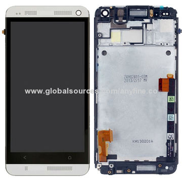 China Wholesale LCD Display Assembly for HTC One m7 801e (frame)