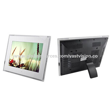 China 12 inch advertise lcd monitor digital photo frame with SD card ...