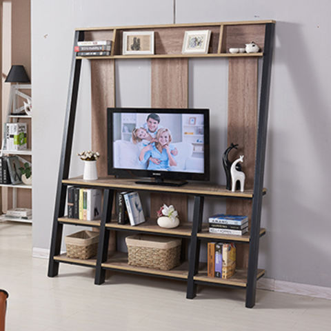 Lcd Tv Stand Designs Wooden : China modern mdf wooden metal frame lcd tv stand models living room