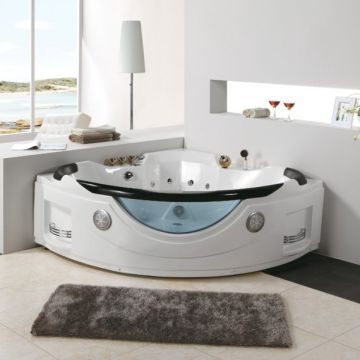 China CE Luxury Acrylic Double Seats Whirlpool Massage Bath Tube (BF 8812)