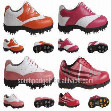 0c2542aaadf Wholesale Waterproof Ladies Leather Spiked Golf Shoes Factory ...