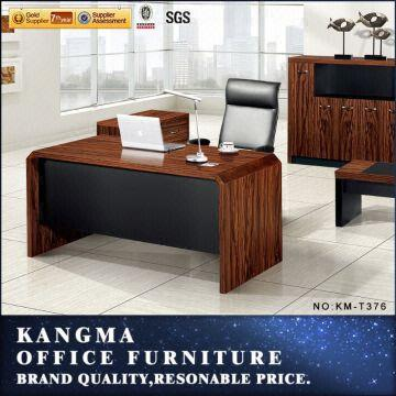 stylish modern glass office desk mindi wood furniture