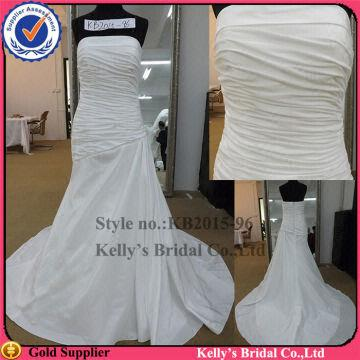 Simple Sexy Strapless And Pleating Taffeta Cheap Plus Size Wedding Dresses Under 100 Global Sources