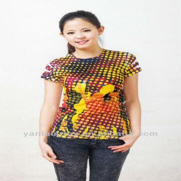 90aa966d6840ec 2013 Women Fashion Colorful Sublimation Priting T-shirt   Global Sources