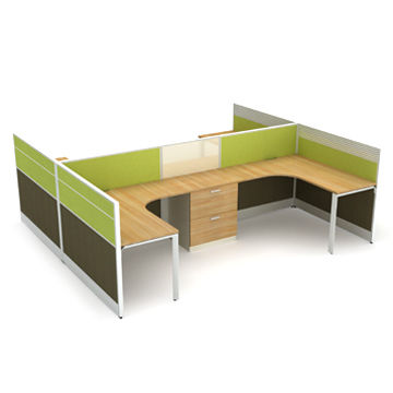 4 Persons Modular Office Workstations