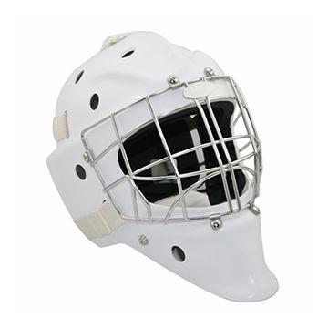White Ice Hockey Goalie Masks, Made of Polycarbonate