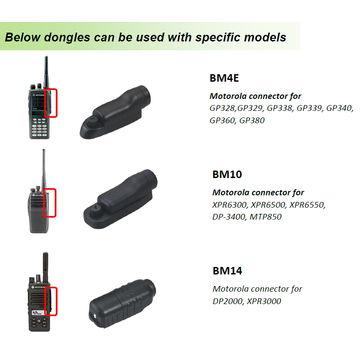 BM10 Bluetooth Dongle for Two-way Radios such as Motorola Radios