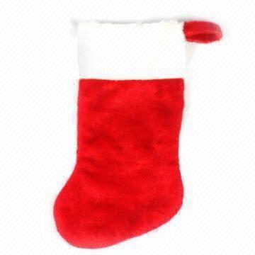 santa claus velvet plush christmas socks china santa claus velvet plush christmas socks - Velvet Christmas Stockings