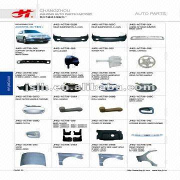 For HYUNDAI ACCENT98 99 SPARE PARTS PAGE 53