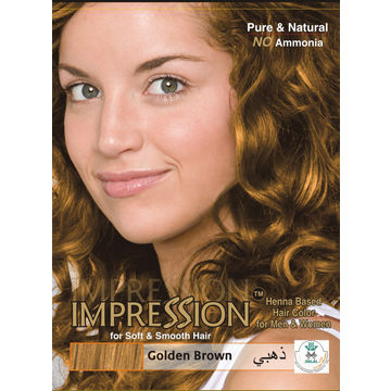 India Impression Golden Brown Henna Based Hair Colour