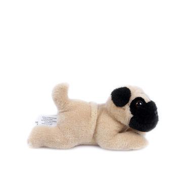 Plush Lying Brown Pug Dog Toys Made Of Soft Plush And Pp Padding
