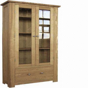 Wooden Display Cabinet 1 Size 200x86x35cm 2 Solid Oak Mdf Gl 3