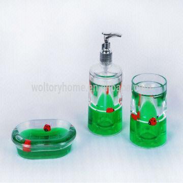 ... China Acrylic Plastic Bathroom Set/christmas Bathroom Sets/Tumbler/Soap  Dispenser/Soap