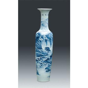 Big Chinese Porcelain Blue White Floor Vase 180cm To 300cm Global