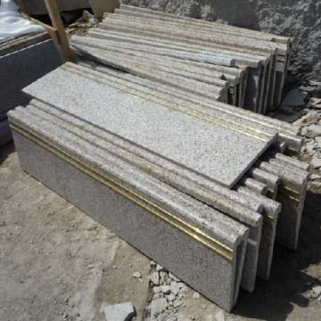 Beautiful China Chinese Yellow Rust Granite Stair Tread,G350,G682,stepstpne,chinese  Stone
