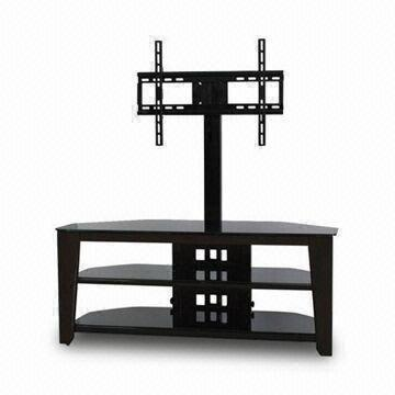 3 In 1 Tv Stand Made Of Metal Glass Wood And Mdf Board With No