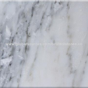 China Eastern White Marble With Few Grey Veins High Level In Porly Sold