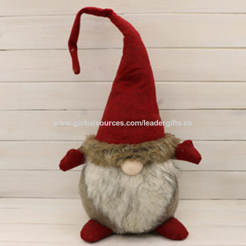 Customized Christmas Fabric Gnome Table Sitter China Customized Christmas  Fabric Gnome Table Sitter
