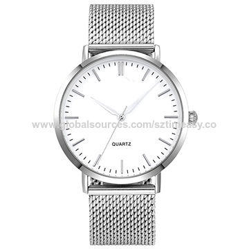 China Mesh Band Best Selling Men 3 Atm Water Resistant 316l Stainless Steel Slim Watch