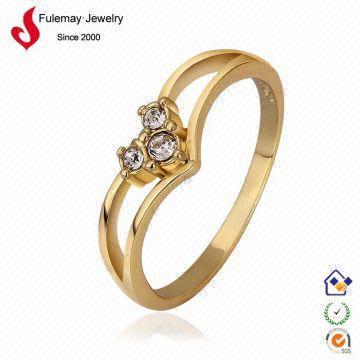 Fashion dubai gold jewelry cheap famous name brand ring FPR563