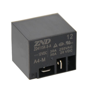 China ZD4115K/T91/12V/30A/4-pin Industry Use Power Relay