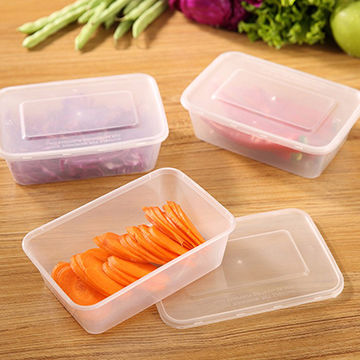 China Plastic Food Container Fresh Vegetable And Fruit Refrigerator Crisper Storage Box
