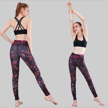c9bf3096a9 ... China Nice printing high waist leggings women's tight pants yoga ...
