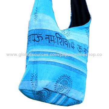 India Handicraft Om Printed Cotton Jhola Bag From Jaipur Wholesaler