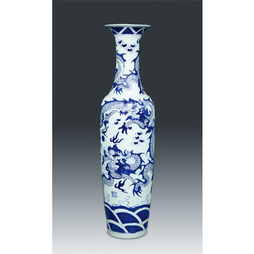 China Chinese Blue White Porcelain Floor Vase 180cm To 300cm