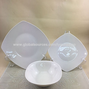 Porcelain ceramic square dinnerware sets China Porcelain ceramic square dinnerware sets & China Wholesale hot sale porcelain ceramic square dinnerware sets ...