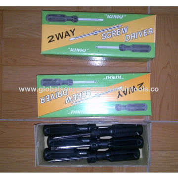 China Two-way Screwdriver, Chrome-plated, PP Handle