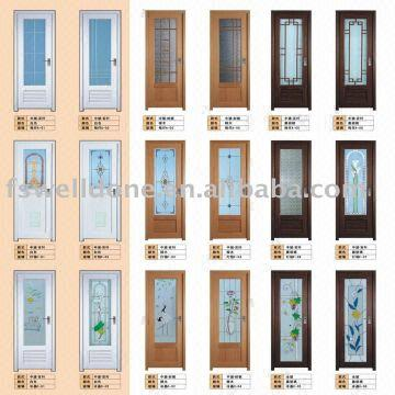 Pvc Bathroom Door Wood Colour Double Or Single Glass