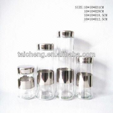 China Tainless Steel Tea Canister Coffee Sugar Canisters Stainless Container
