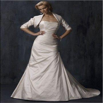 Short Sleeve Mermaid Taffeta Wedding Dress/Bridal Gown/Bridal Dress ...