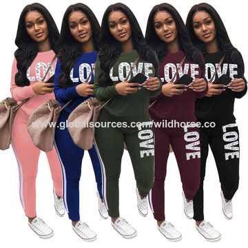 Womens Sports Suit Solid Color Lounge Sets Sweatshirt Long Sleeved Hoodie Trousers Two Piece Outfits Tracksuit Ports Suit