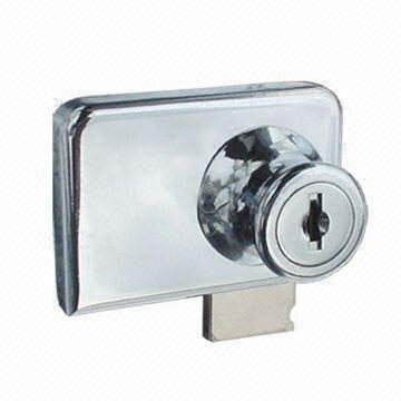 China Zinc Alloy Glass Door Showcase Lock Available For