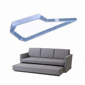 Drawout Sofa Bed Mechanism Locked by Front Skirt Board Free of