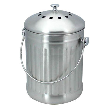China Compost Pail/Bin, Used To Collect Kitchen Scraps, Lid With 2 Charcoal  ...