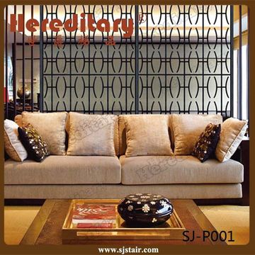 China Laser Cut Home Living Furniture Room Divider Decorative Metal Screen Parion