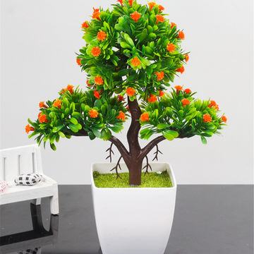 Chinahot Sale Factory Supplier Artificial Simulation Fake Synthetic Branch Bonsai For Decoration On Global Sources