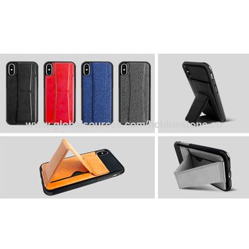 huge selection of b8a19 75d18 Fabric PU Leather + PC Phone Case Stand Wallet