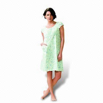 Women's Night Dress, Made of 100% Cotton, Comfortable to Wear ...