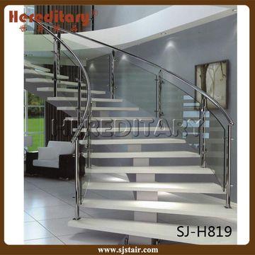 ... China Modern Design Glass Railing Arch/spiral Staircase