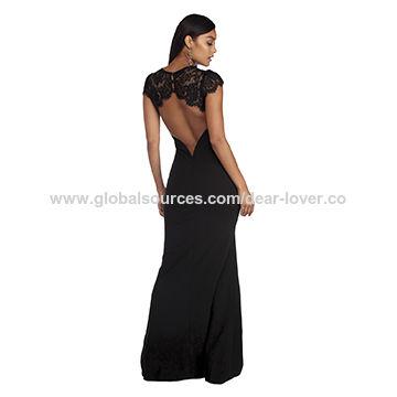 Latest Design Formal Evening Gown Elegant Strapless Simple Women ...