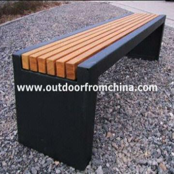 China Weather Resistant/steel/solid Wood Backless Outdoor Bench