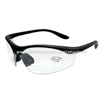 Taiwan Safety Glasses with Bifocal Lens, Made of Nylon Frame, Anti ...